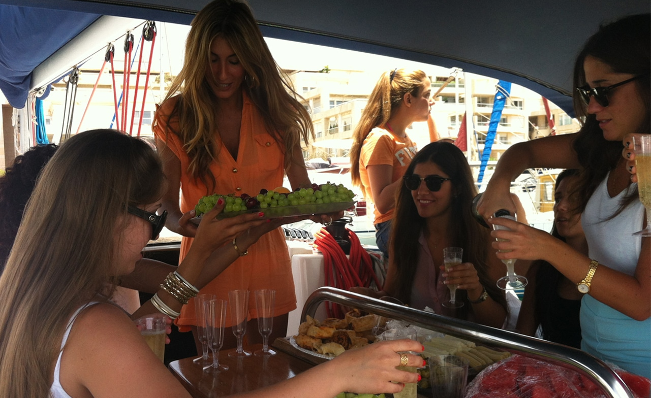 Bachelorette Party in a yacht