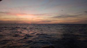 שקיעה בים ביום האהבה